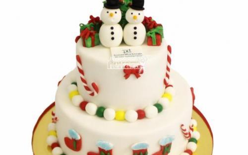 Торт на новый год, торты на заказ Московский пекарь