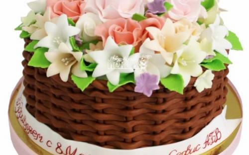 Торт на 8 марта, торты на заказ Московский пекарь