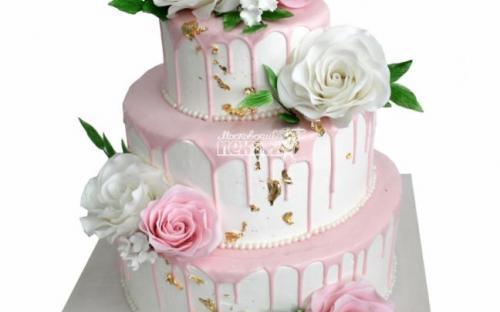 Свадебный торт, торты на заказ Московский пекарь