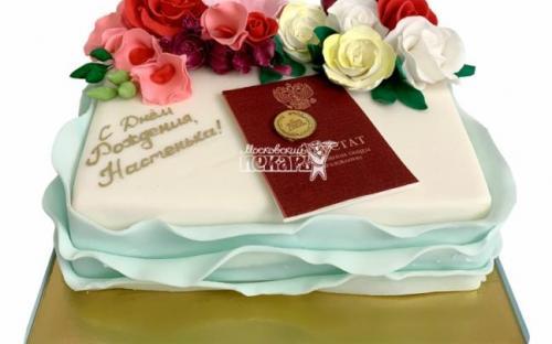 Торт на выпускной в университет, торты на заказ Московский пекарь