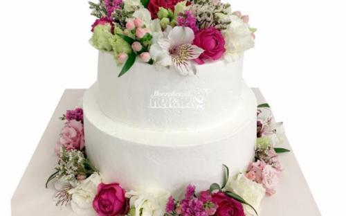 Торт с цветами, торты на заказ Московский пекарь