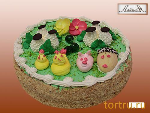"""Торт """"Бисквитно-кремовый"""", кондитерская Лаверна"""