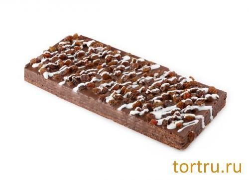 """Торт вафельный """"Шоколадный с изюмом"""", Хлебокомбинат № 1 Курганский"""