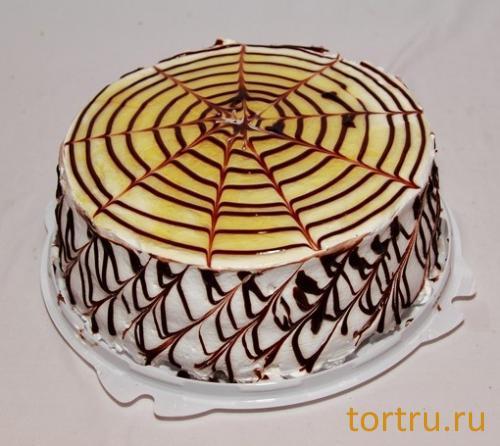 """Торт """"Шоколадно-банановый"""", кофейня-кондитерская Эксклюзив, Орехово-Зуево"""