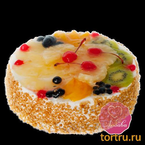 """Торт """"Сливки с фруктами"""", Любава, кондитерская фабрика, Москва"""