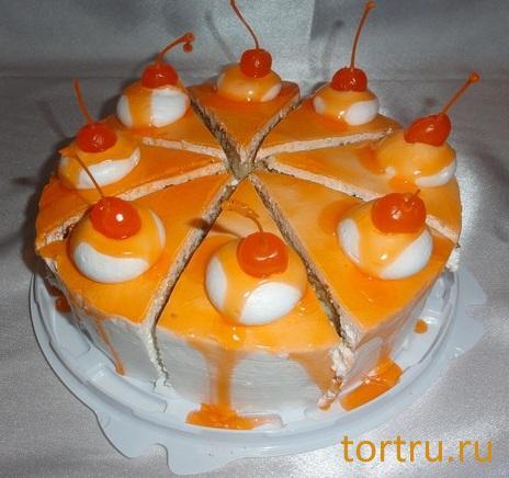 """Торт """"Апельсиновый"""", кофейня-кондитерская Эксклюзив, Орехово-Зуево"""