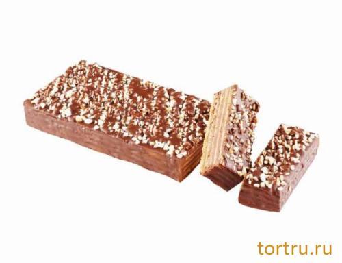 """Торт вафельный """"Шоколадный с орехом"""", Хлебокомбинат № 1 Курганский"""