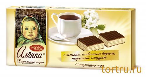"""Торт вафельный """"Алёнка"""", Красный Октябрь"""
