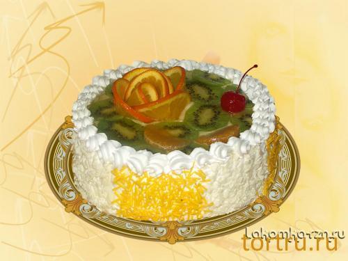 """Торт """"Фруктовый десерт"""", кондитерский цех Лакомка, Рязань"""