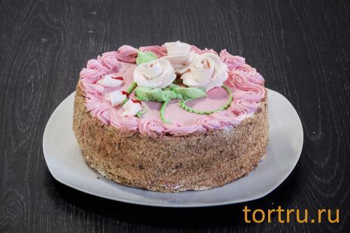 """Торт """"Белые розы"""", """"Кристалл"""" Пенза"""