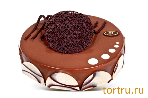 """Торт """"Эквадор (три шоколада, сырный)"""", кондитерская Крем Роял, Москва"""