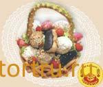 """Торт """"Корзина с пирожными"""", Хлебокомбинат Каширский, Каширахлеб"""