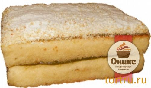 """Торт """"Бисквитный с фруктовой начинкой"""", кондитерская компания Оникс"""