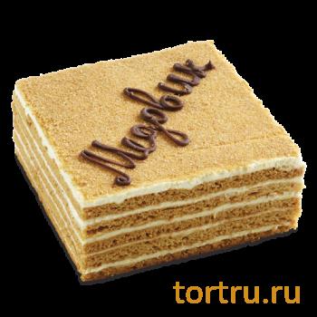 """Торт """"Медово-сметанный"""", Венский Цех фабрики Большевик, Москва"""