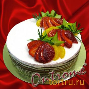 "Торт ""Онтроме Клубника"", Онтроме, кафе-кондитерская, Санкт-Петербург"