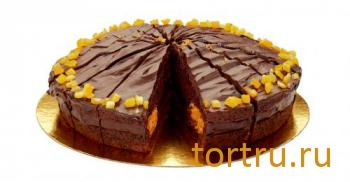 """Торт """"Шоколадно-апельсиновый"""", Кристоф, кондитерская фабрика десертов, Санкт-Петербург"""