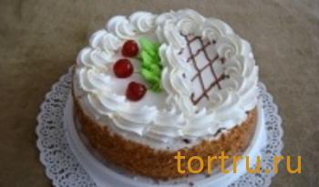 """Торт """"Бисквитно-кремовый со сливками"""", Ахтырский хлебозавод"""