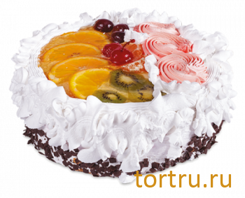 """Торт """"Бисквитно-фруктовый"""", кондитерская фабрика Амарас, Москва"""