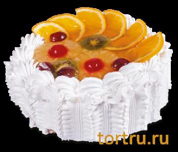 "Торт ""Корзина с фруктами"", кондитерская фабрика Амарас, Москва"