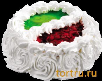 """Торт """"Йогуртовый киви и вишня"""", кондитерское производство Метрополь, Санкт-Петербург"""
