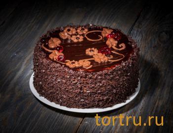 """Торт """"Вишня-шоколад"""", сеть кондитерских магазинов Бисквит, Смоленск"""