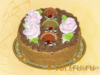 """Торт """"Бисквитно-кремовый"""", кондитерский цех Лакомка, Рязань"""