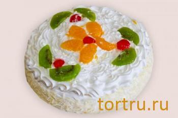 """Торт """"Йогуртовый с фруктами"""", кондитерская Чайка, Калуга"""
