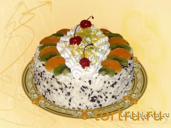 """Торт """"Йогуртовый с фруктами"""", кондитерский цех Лакомка, Рязань"""