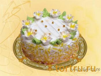"""Торт """"Белые ночи"""", кондитерский цех Лакомка, Рязань"""
