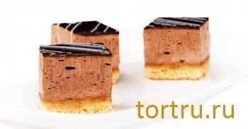 """Торт """"Шоколадное зеркало"""", Кристоф, кондитерская фабрика десертов, Санкт-Петербург"""