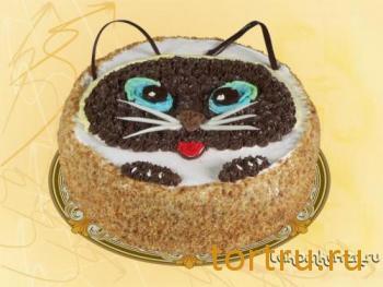 """Торт """"Детский (кошка)"""", кондитерский цех Лакомка, Рязань"""