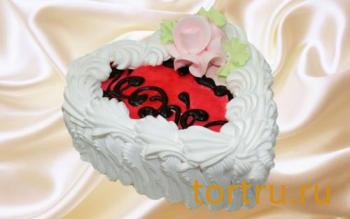 """Торт """"Йогуртовый Клубника (сердце)"""", Кондитерский комбинат Ходынка, Sweet Bakery"""
