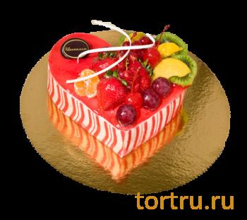 """Торт """"Мусс Клубничное сердце"""", французская кондитерская Шантимэль, Москва"""