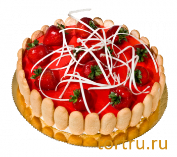 """Торт """"Кремчиз клубника"""", французская кондитерская Шантимэль, Москва"""