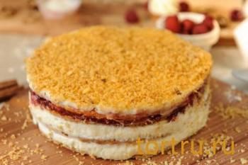 """Торт """"Наполеон малиновый"""", кондитерская Ваниль"""