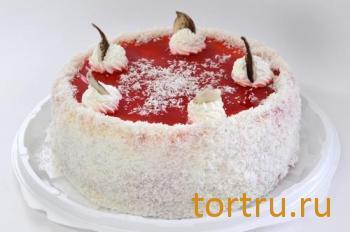 """Торт """"Клубнично-ванильный"""", кондитерский дом Богатырь, Боровск"""