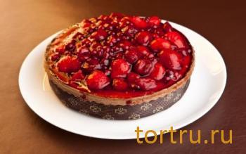 """Торт """"Пай творожно-вишневый"""", кондитерская Ваниль"""