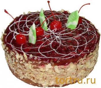 """Торт """"Бисквитный шоколадно-вишнёвый"""", Хлебокомбинат """"Пролетарец"""", Москва"""