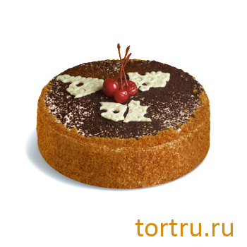 """Торт """"Медовый с вишней"""", кондитерская фабрика Сластёна, Чебоксары"""