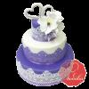 Свадебный Торт с кружевами на заказ, Кондитерская фабрика Любава